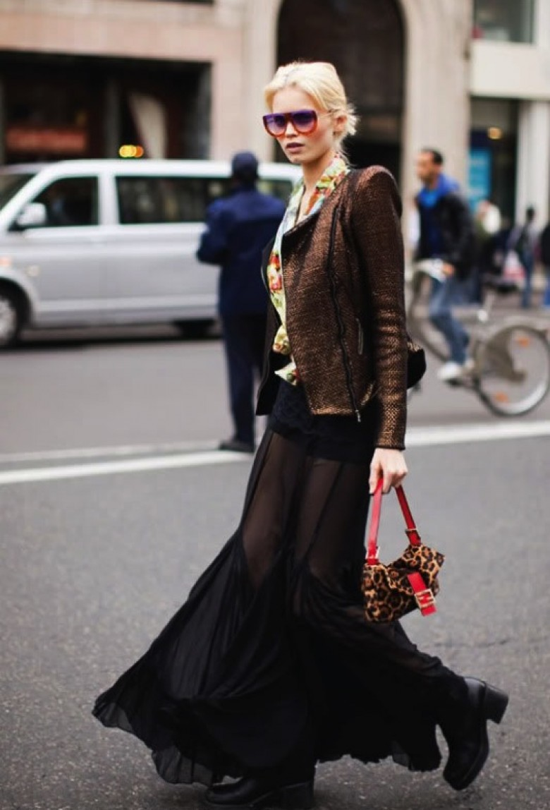 Style robe longue hiver
