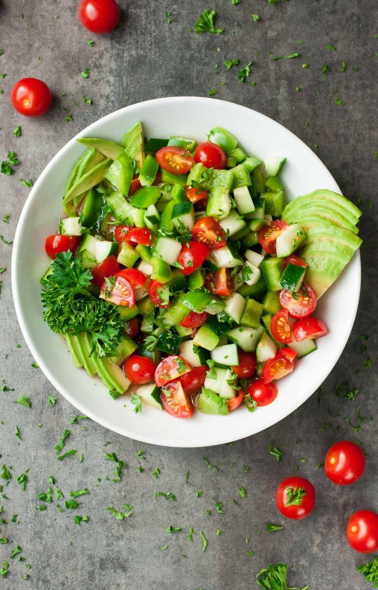 3 - Salade de tomates et avocats