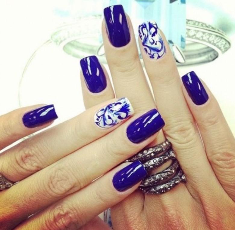 Relativ 30 idées de nail art bleu nuit - Les Éclaireuses CL58