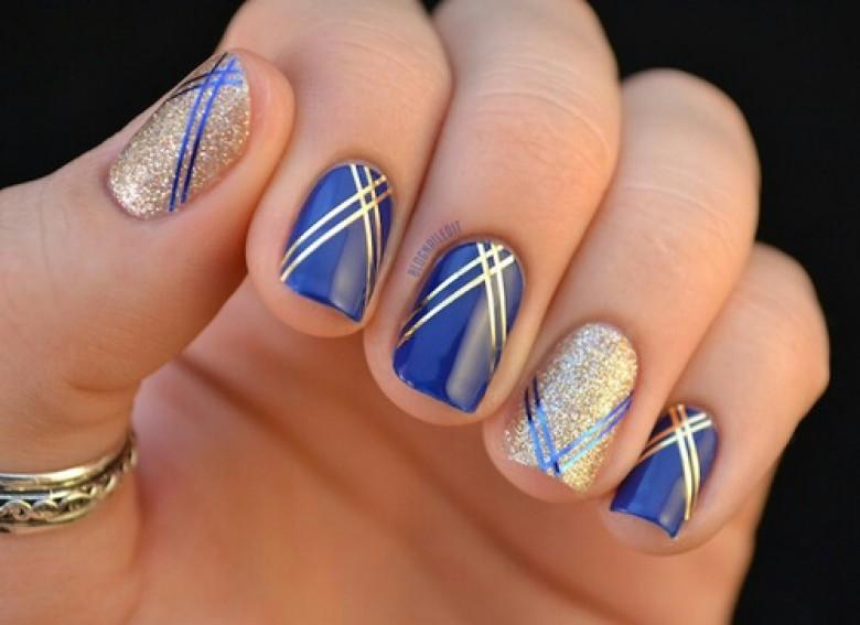 Favorit 30 idées de nail art bleu nuit - Les Éclaireuses MU34