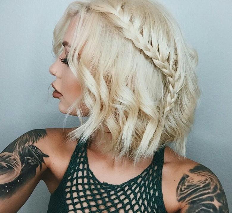 Les cheveux courts tresss la coiffure de lt  Les - Cute Simple Hairstyles