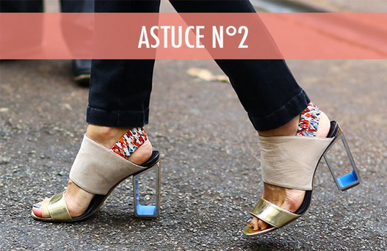 À l intérieur de vos chaussures, placez des sacs de congélation remplis d eau  ... 782c6a7d4d36