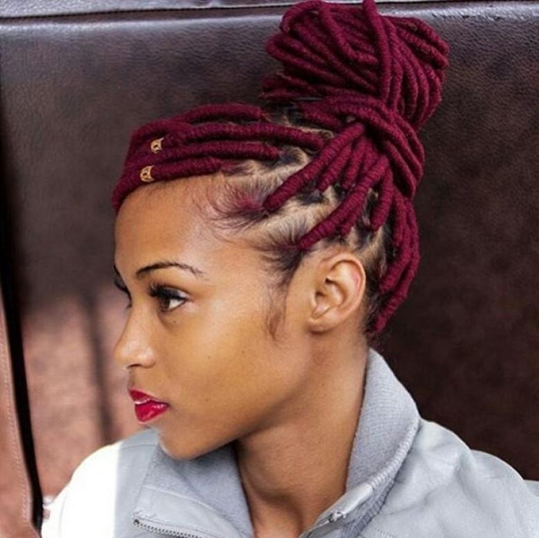 coiffure natte afro