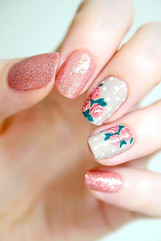 35 Nail Design Ideas For The Latest Autumn Winter Trends: 35 Nail Art Fleuris Pour Cet été