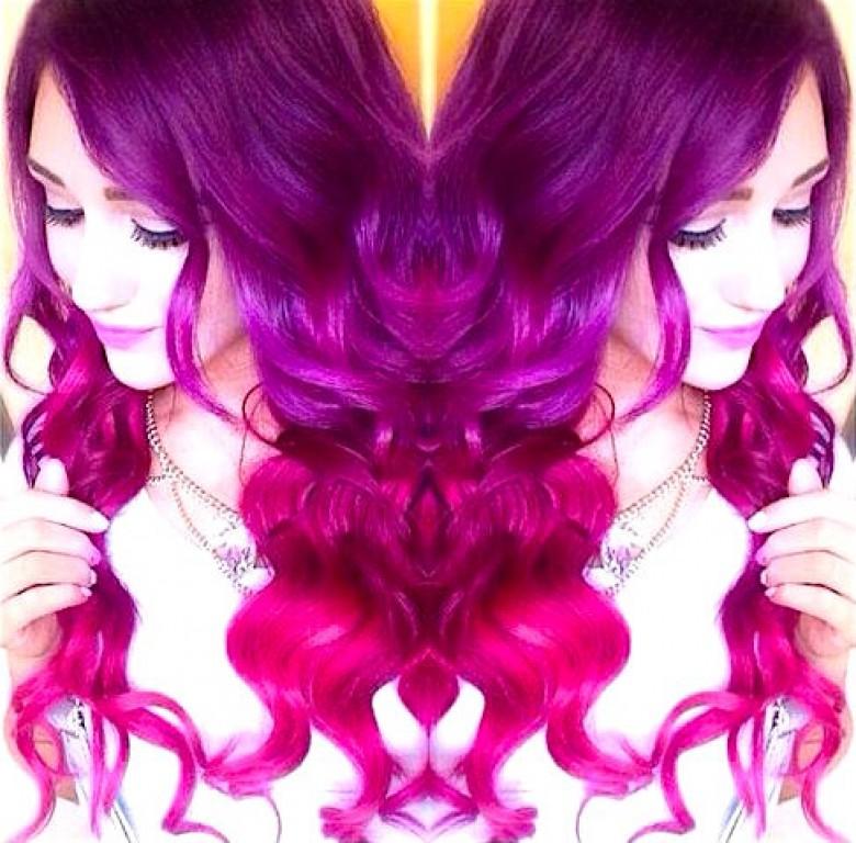 Extr mement couleur cheveux violet rose fw58 montrealeast - Couleur rose violet ...