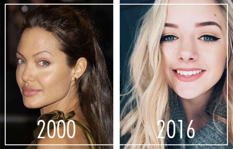 L\u0027évolution du maquillage  2000 VS 2016
