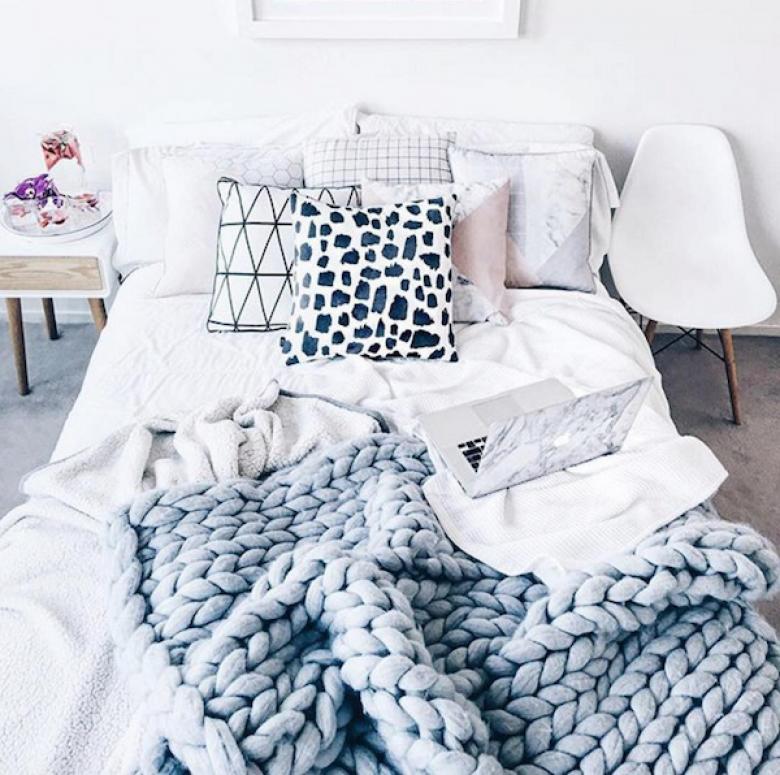 couverture tricot xxl awesome plaid de lit ides pour. Black Bedroom Furniture Sets. Home Design Ideas