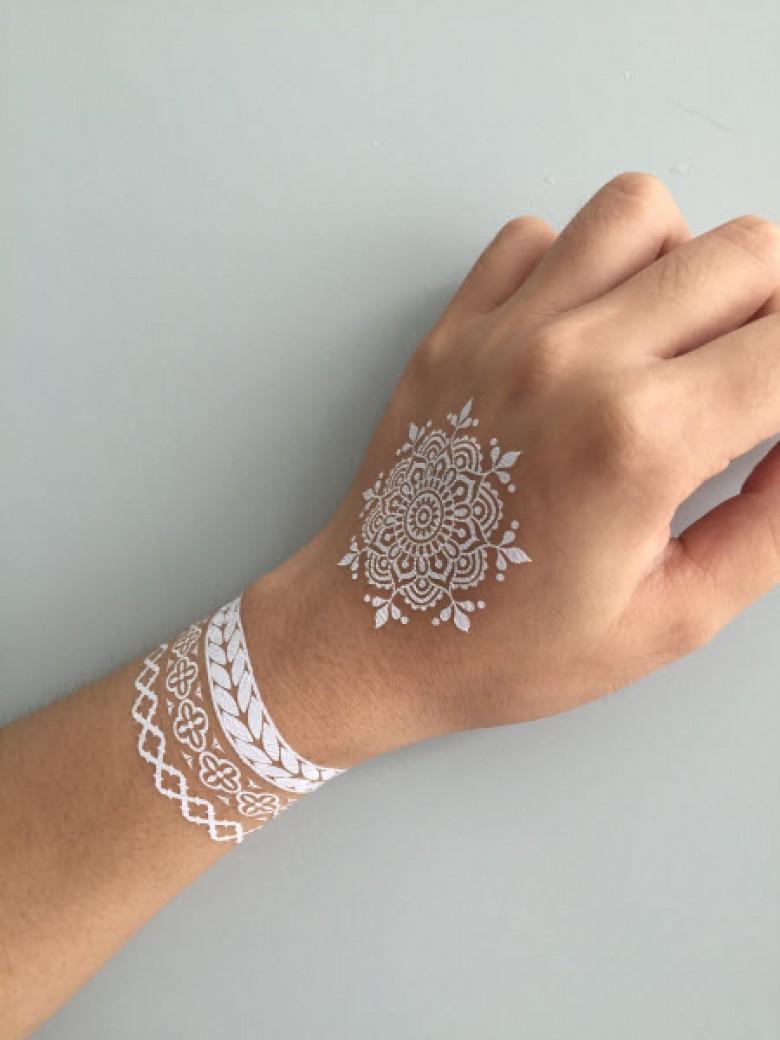 le henné blanc pour des mains et avant-bras totalement lookés et