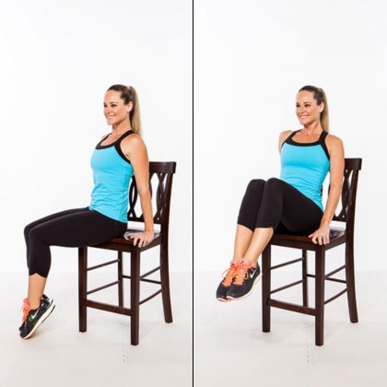 5 exercices sur une chaise pour enlever la graisse du ventre les claireuses. Black Bedroom Furniture Sets. Home Design Ideas