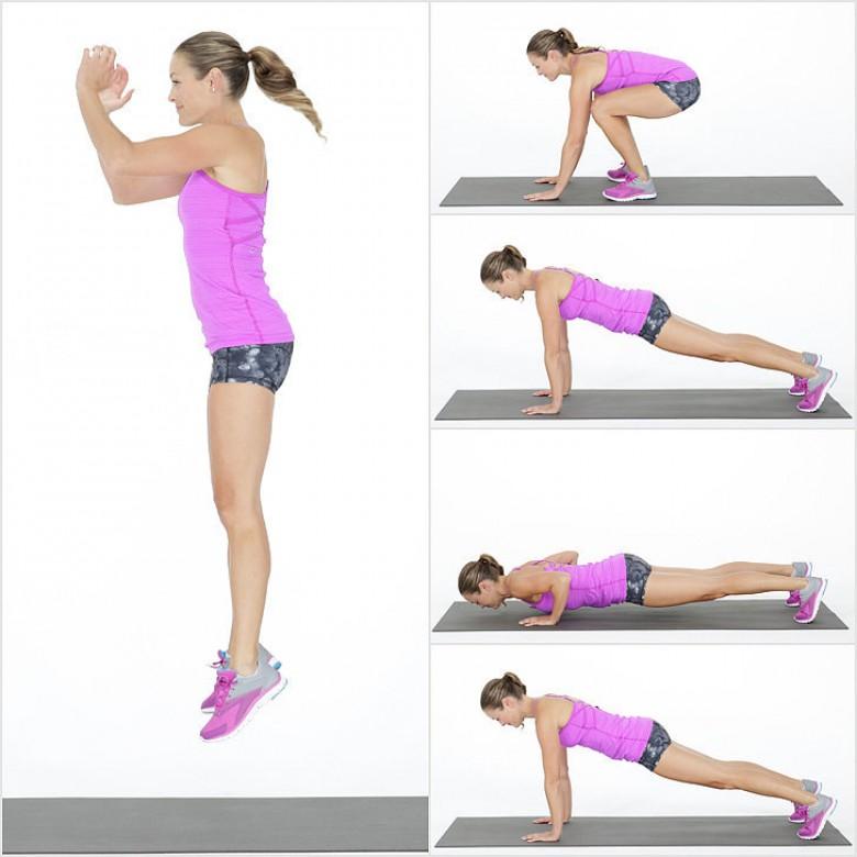 10 exercices qui brûlent 200 calories en 3 minutes