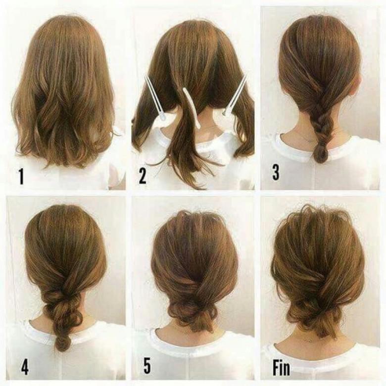 Coiffure facile a faire cheveux court