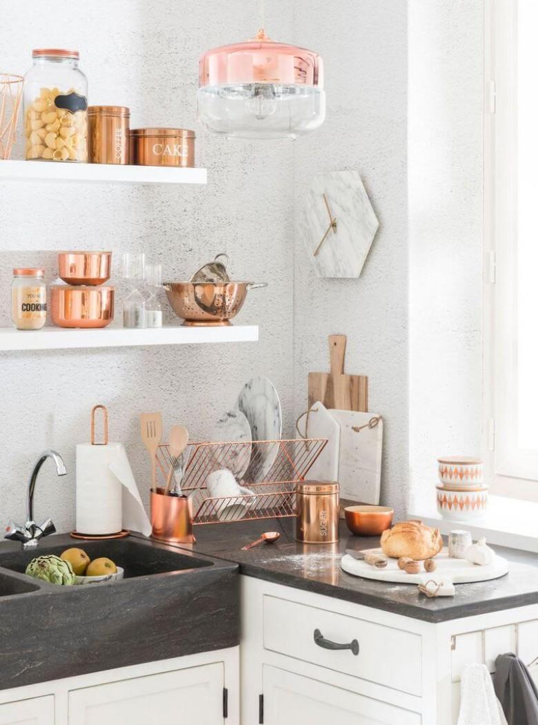30 pi ces de d coration rose gold qui vont sublimer votre for Deco cuisine rose