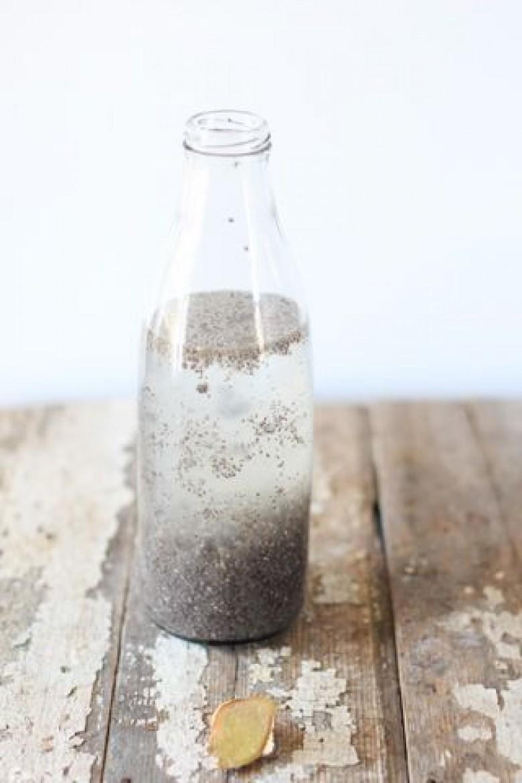 Adieu l eau citronn e le matin place l eau de chia les claireuses - Graine de chia coupe faim ...