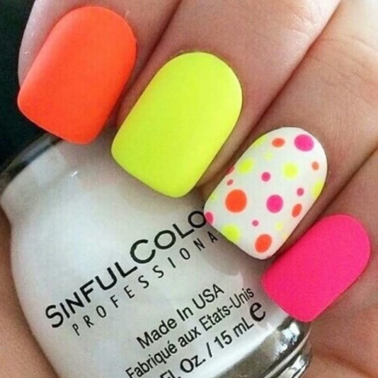 nail art fluo