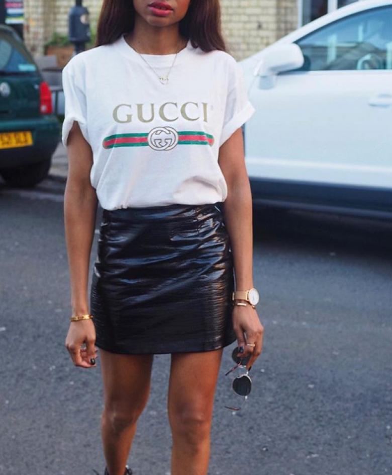 La tendance du moment   Le T-shirt à logo Gucci ! 1dc2a07f020