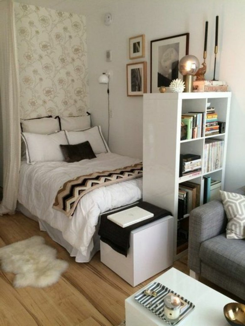 20 astuces g niales pour am nager au mieux votre petit studio. Black Bedroom Furniture Sets. Home Design Ideas