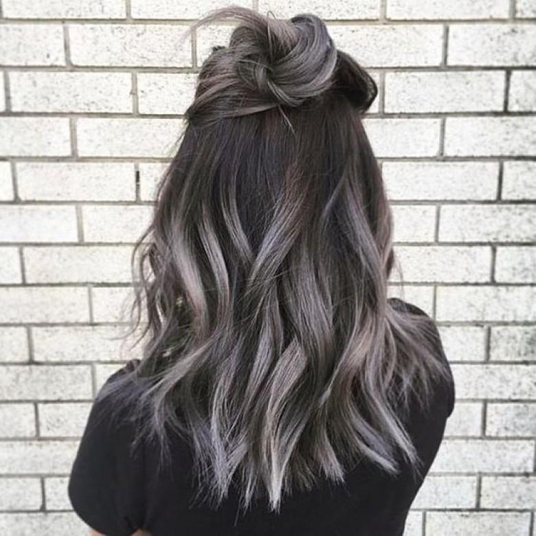 couleur cheveux gris fonce