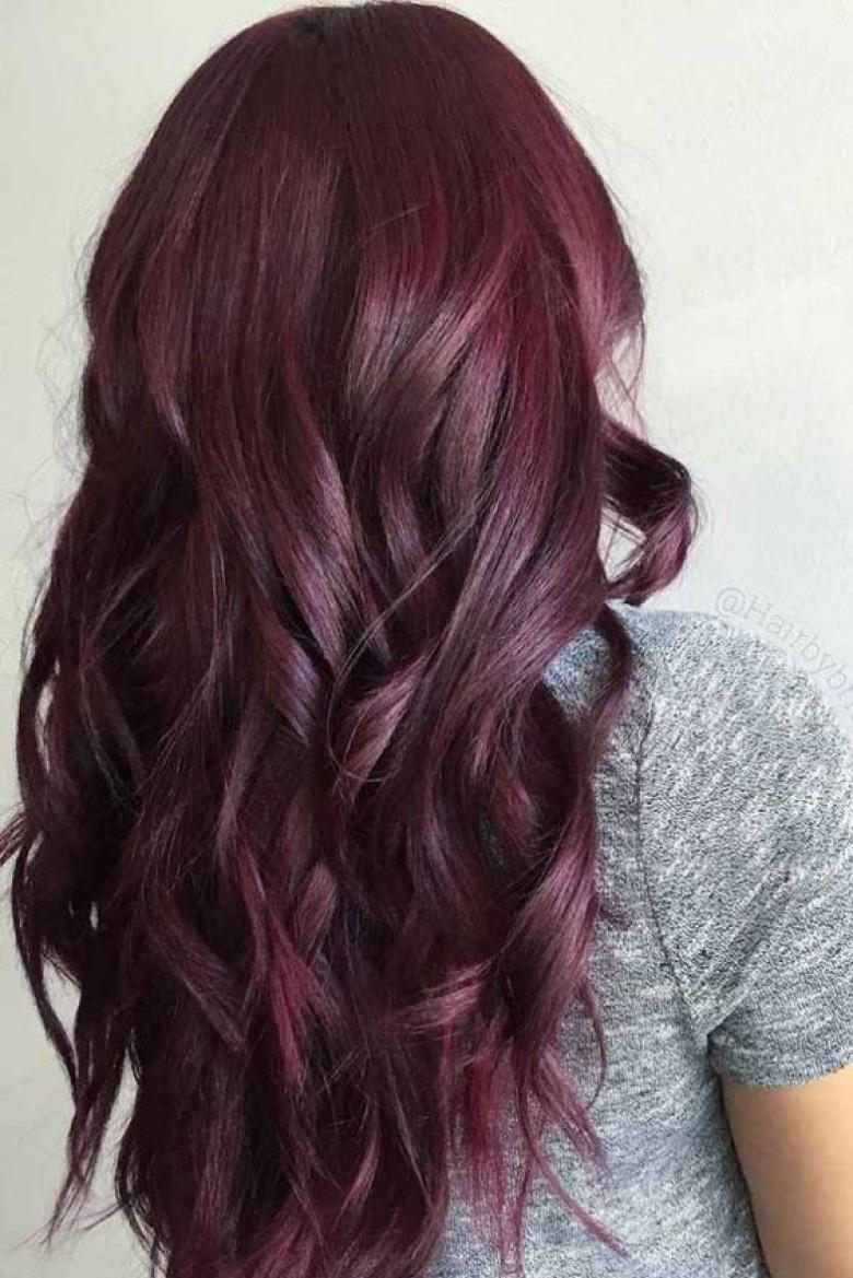 Coloration cheveux aubergine