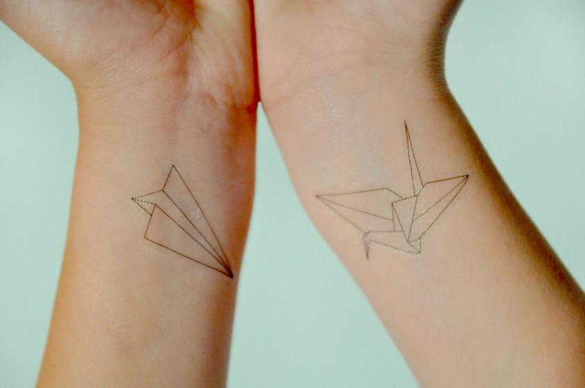 20 idées de tatouages origami