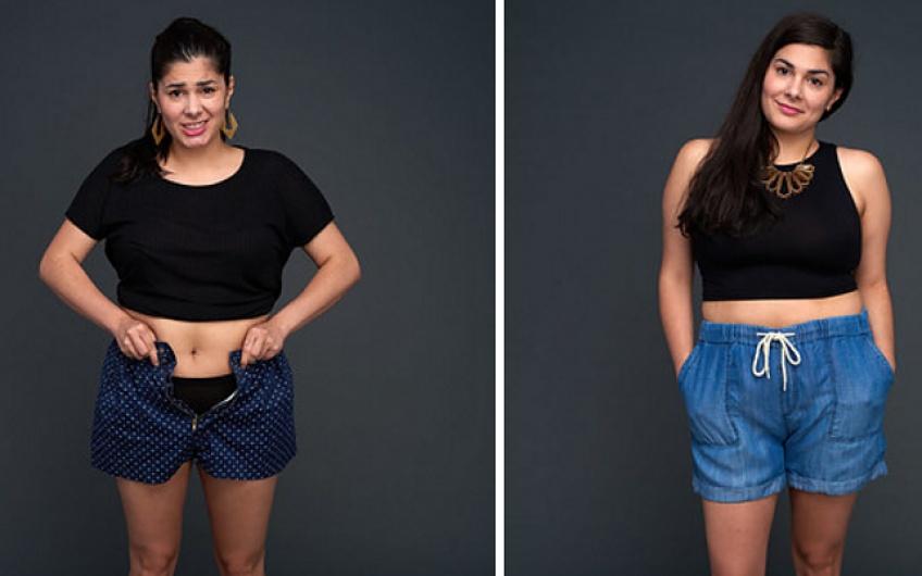 Au lieu de perdre du poids, elle se débarrasse de ses vieux vêtements