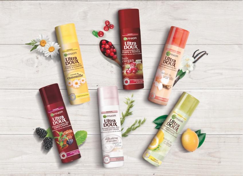 Garnier lance sa nouvelle gamme de shampooings secs Ultra Doux conçus pour tous les types de cheveux