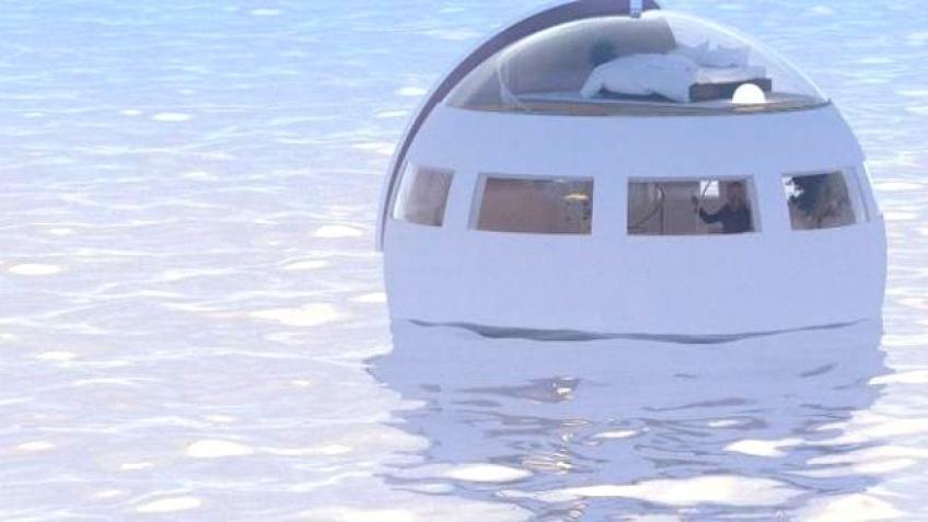 Dormir dans une capsule flottante, destination île déserte !