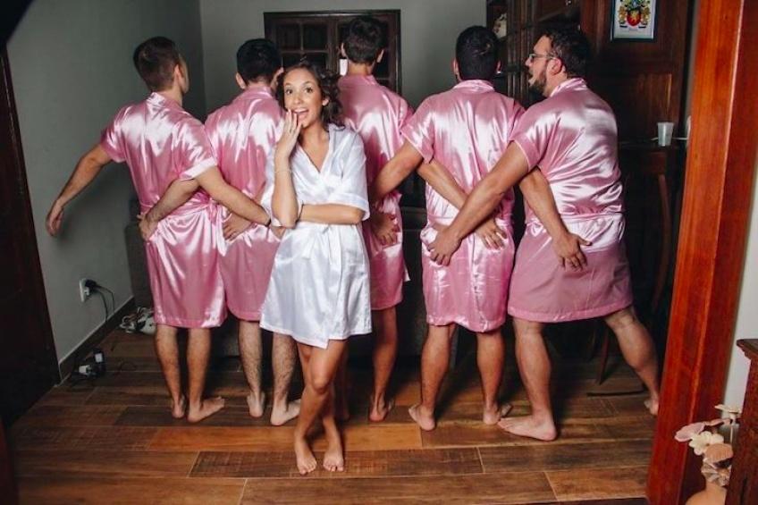 Cette future mariée a eu une super idée pour son EVJF