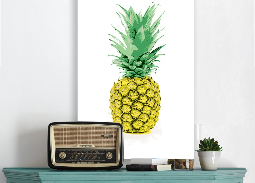 une d co ananas pour vitaminer votre int rieur les claireuses. Black Bedroom Furniture Sets. Home Design Ideas