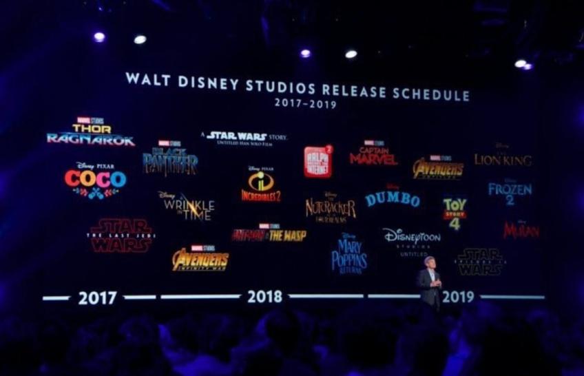 Disney a dévoilé son calendrier jusqu'en 2019 et vous n'allez pas vous ennuyer !