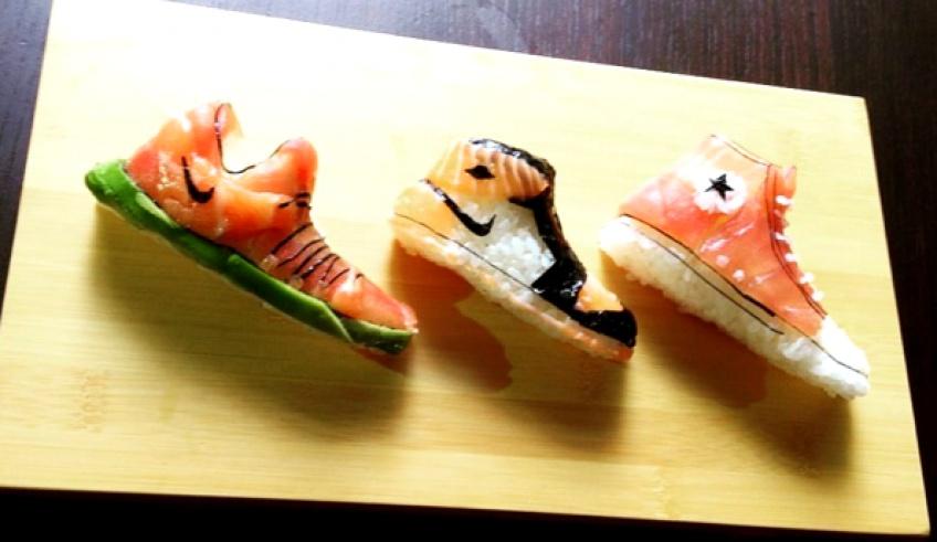 Ce chef reproduit vos sneakers préférées en sushi !