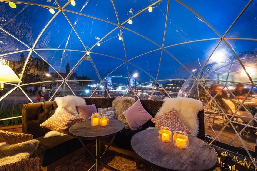 Dînez sous des bulles chauffées pour profiter de Londres, même en hiver !