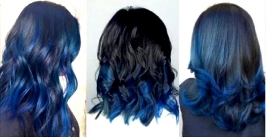 couleur cheveux bleu nuit