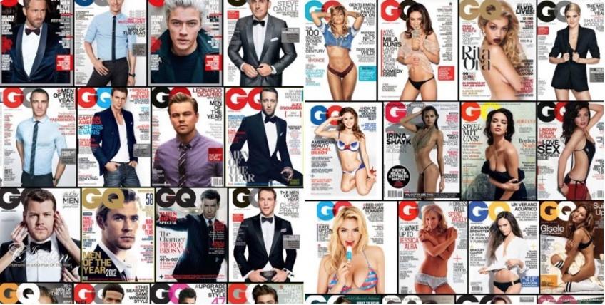 Voici la différence entre les couvertures hommes et femmes de GQ !