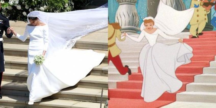 Meghan Markle ressemblait à une princesse Disney durant son mariage !