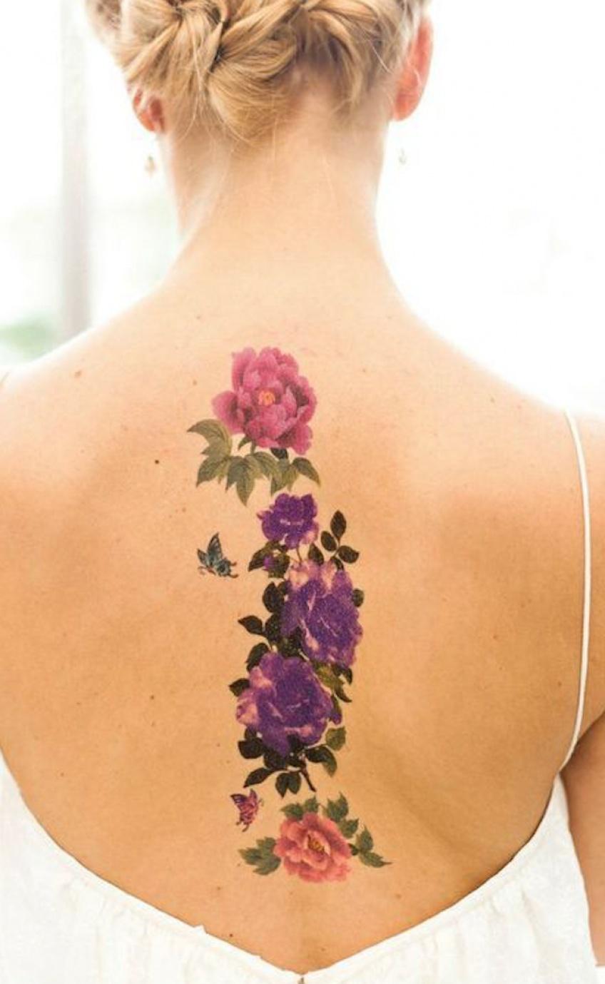 La colonne vertébrale se pare de jolis tatouages