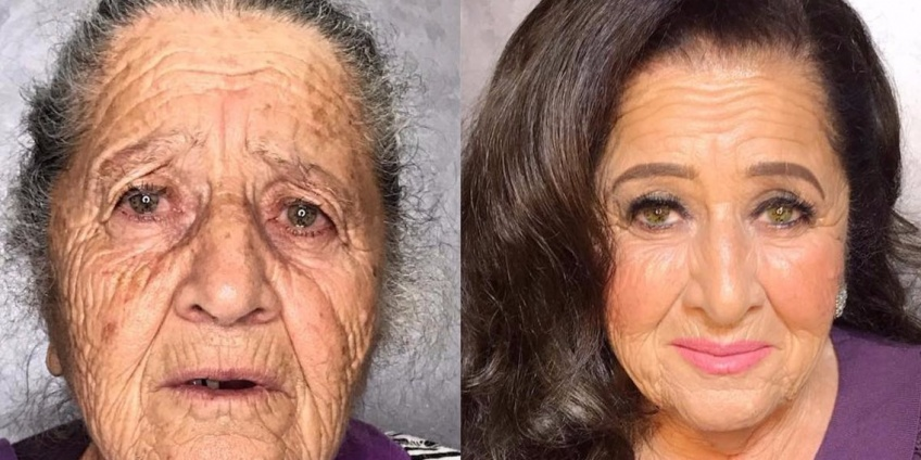La transformation make-up de cette grand-mère est incroyable