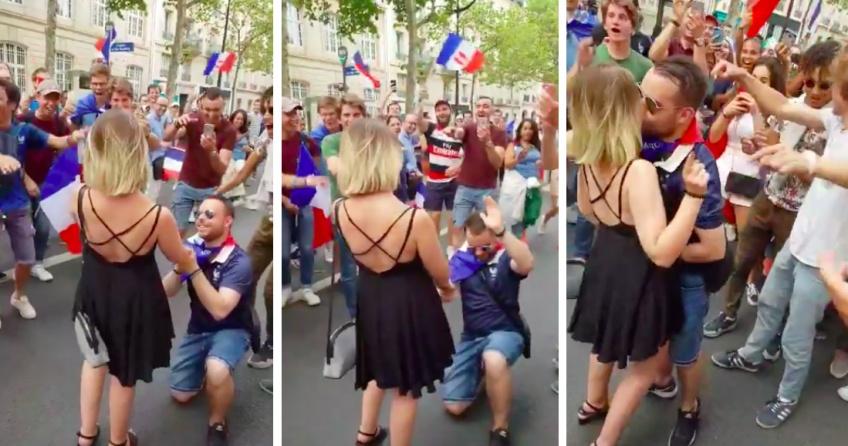 Une demande en mariage tourne au cauchemar sur les Champs Elysées