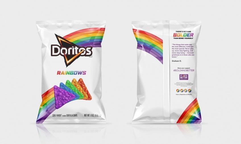 Il existe des Doritos arc-en-ciel qui ressemblent à des chips pour licornes !