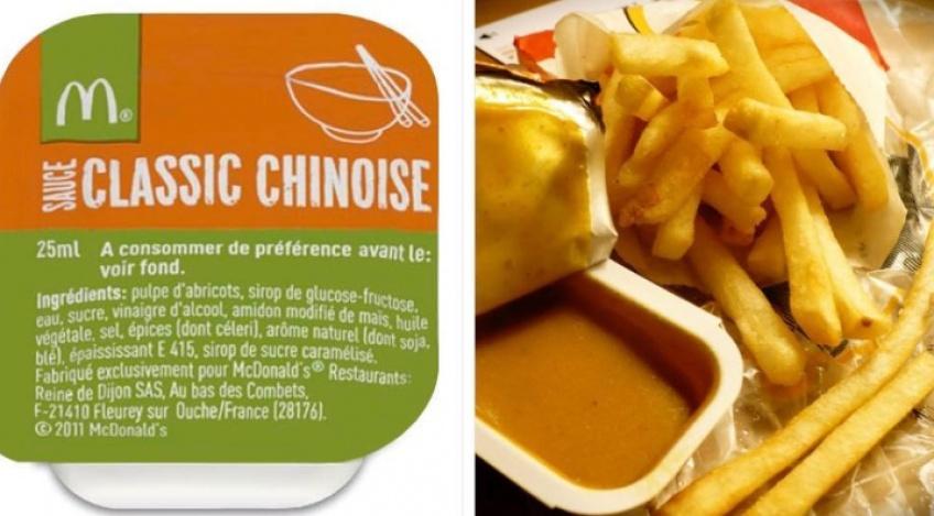 McDonald's arrête la distribution de sauce chinoise dans ses restaurants !
