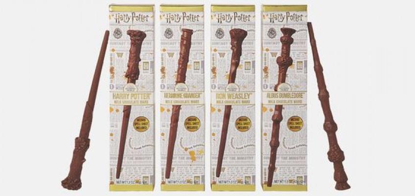 Croquez pour ces baguettes magiques d'Harry Potter en chocolat