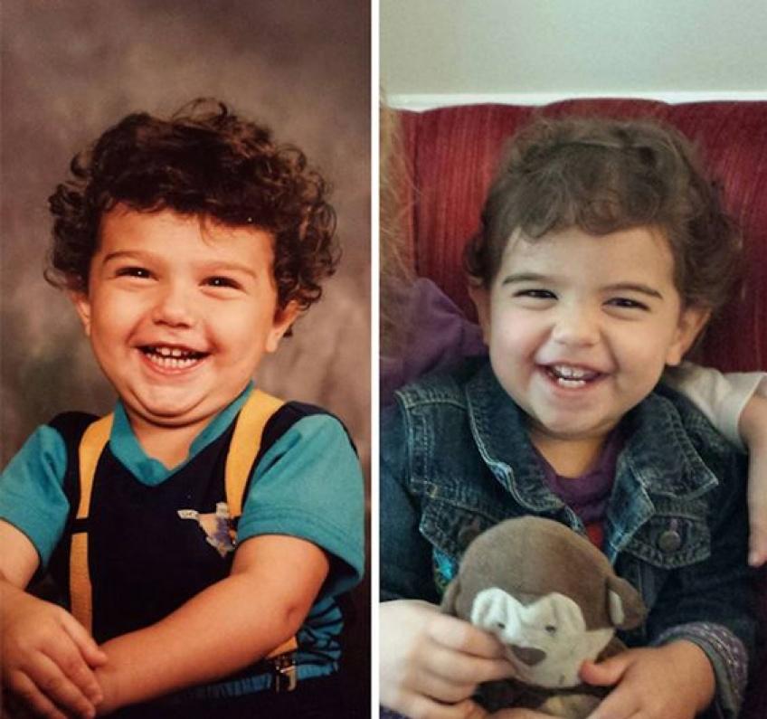 Les photos où la ressemblance entre parents et enfants est si frappante que ça en est magique !