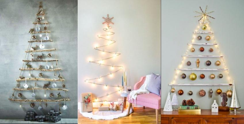 Et pourquoi pas un sapin de Noël directement sur le mur ?