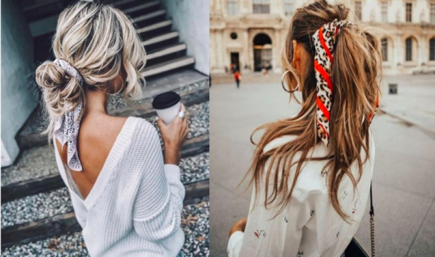 Créoles et foulard : la combinaison ultra-trendy de la saison