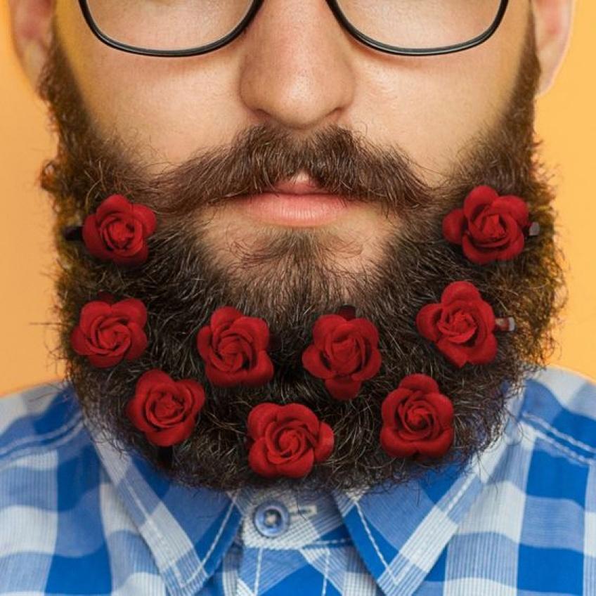 cadeau saint-valentin bouquet lumineux roses barbe