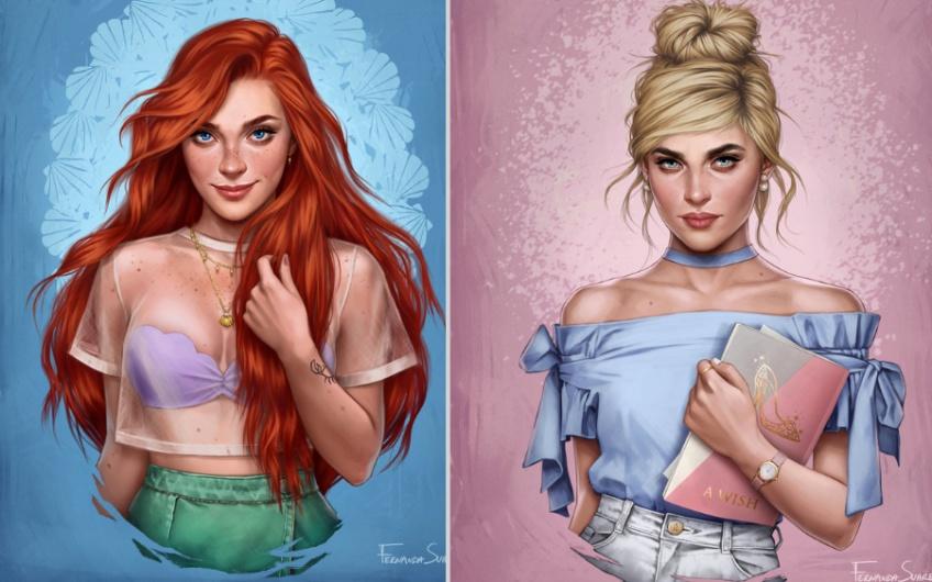 Un artiste imagine à quoi ressembleraient les personnages Disney en 2019 et le résultat est bluffant