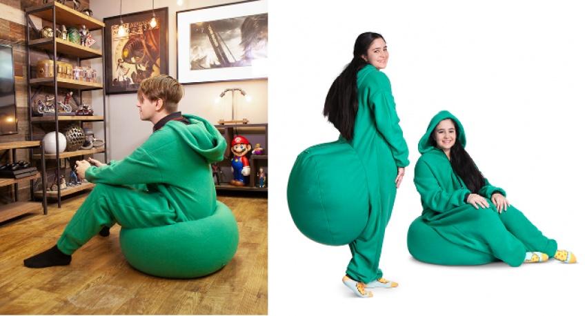 Tendance WTF : Il existe un pyjama avec pouf intégré pour être confortablement assise partout où l'on va !
