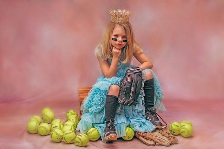 petite fille princesse athlète