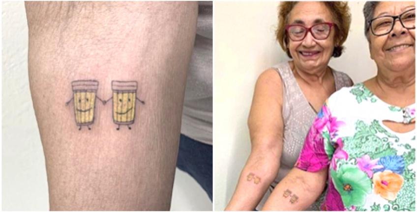 Pour célébrer leurs 30 ans d'amitié, elles décident de se faire un tatouage commun !