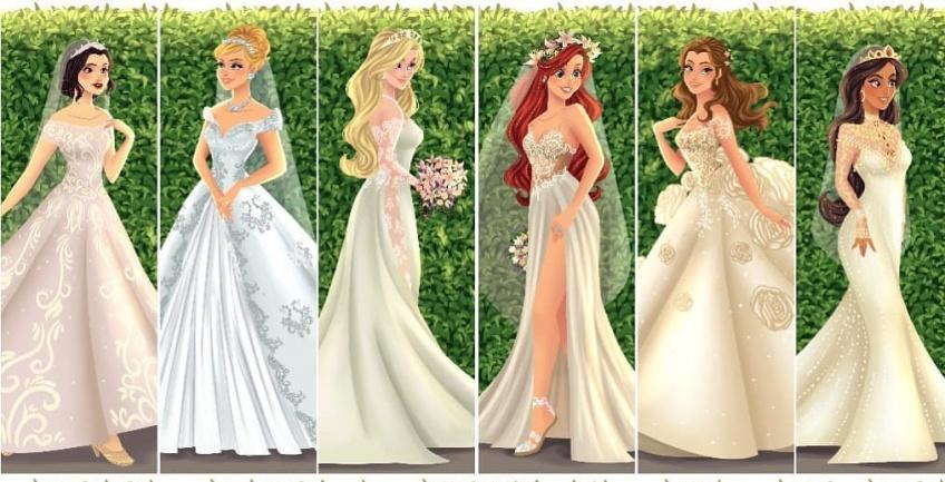 Cet illustrateur a imaginé toutes les princesses Disney en magnifiques robes de mariées