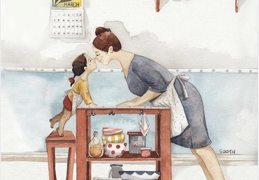 illustratrice dessins moments familiaux heureux
